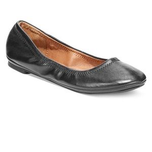 Lucky Brand Glossy Black womens Emmie Ballet Flats